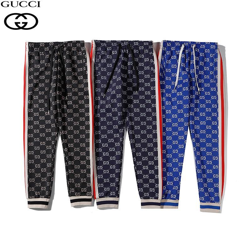 Nueva llegadaGG diseñador de lujo de los hombres finos pantalones de moda más reciente de costura Imprimir exquisitos pantalones casuales de moda Nuevos Productos