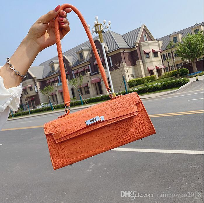 Factory wholesale women handbag new embossed leather shoulder bag street trend crocodile pattern women armpit bag fashion leather messenger