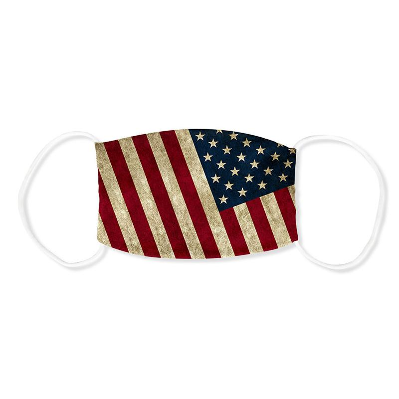 Trump Flag Supplies Election américaine antipoussière coupe-vent Lavable réutilisable Canada desiger Masque DHE42