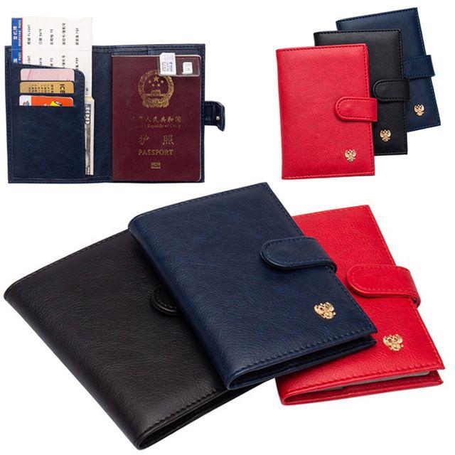 حقائب الأمتعة الروسية الغلاف المرأة روسيا حامل جواز السفر يغطي منظم السفر للجوازات بنات حالة جواز السفر لPU الجلود الساخن