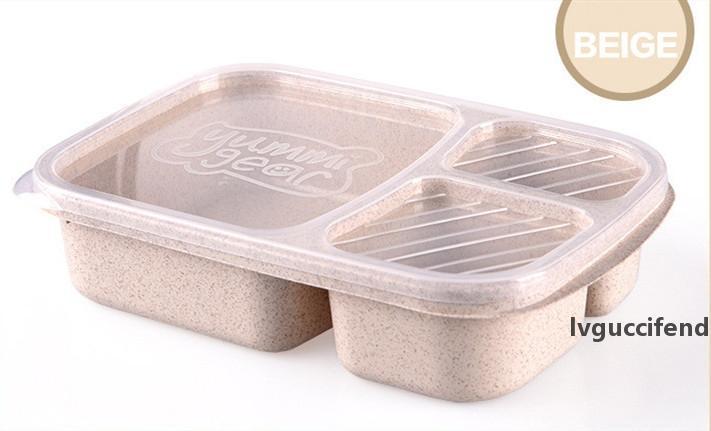 Natürliche Reishülsen Weizenstroh Lunchbox Lebensmittelqualität Umweltschutz PP Lunchbox Student Schüssel Fast-Food-Trennung Lunchbox