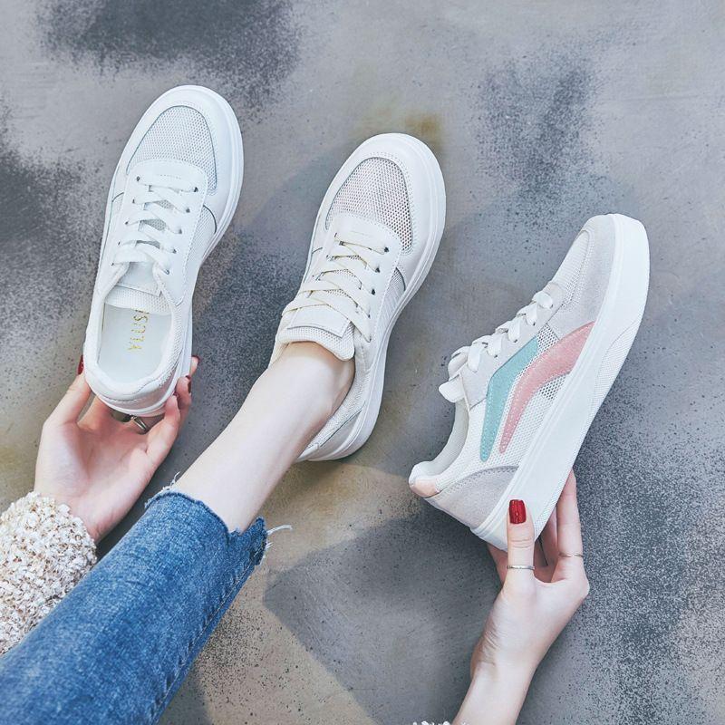 Spot tendenza della via scarpe bianche 2020Shoe scarpe sportive casuali [signore bordo combinazione scarpa] estate scarpe da donna Mesh traspirante
