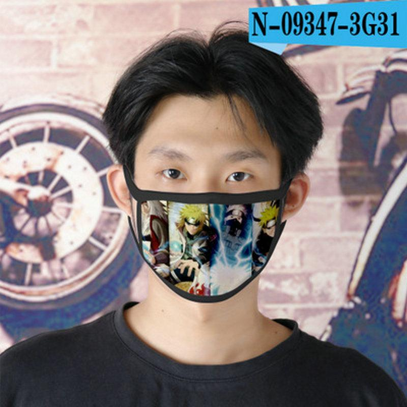 Naruto Gif Cubrebocas Дизайнер Tapabocas многоразовой маска для Леди Мультфильм Маски для лица 09 Naruto Gif gpBdx ABC2007