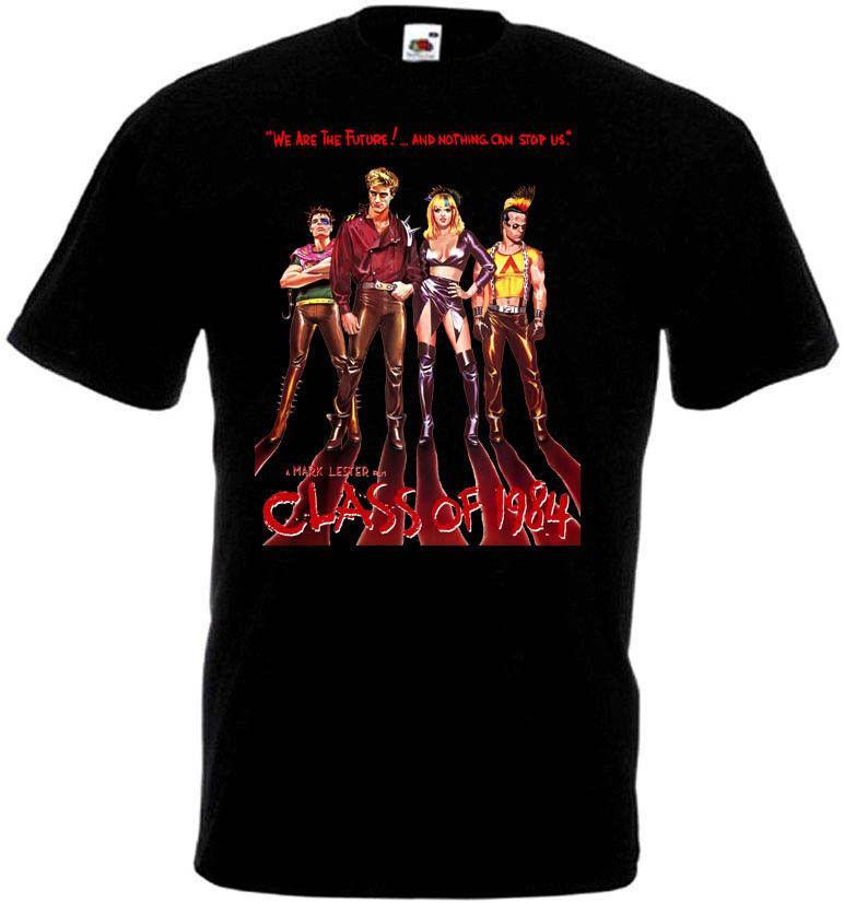 Classe de 1984 T-shirt New Arrival de Affiche du film classique Homme Chemise à manches courtes Gym Roi T-shirt vintage T-shirts Tops pour homme