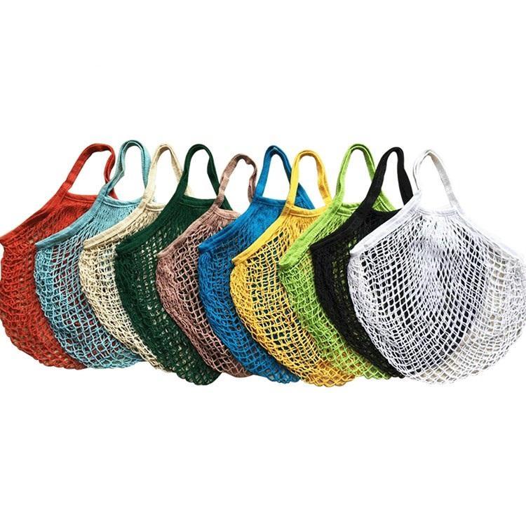 Reutilizáveis compras Grocery Bag Tamanho Grande Shopper Tote malha Net tecido de algodão sacos portátil sacos de armazenamento Bag 150pcs T2I5762-1