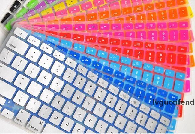 Laptop Soft Silicone Colorful KeyBoard Case Protector Cover Skin For MacBook Pro Air Retina 11 13 15 Waterproof Dustproof