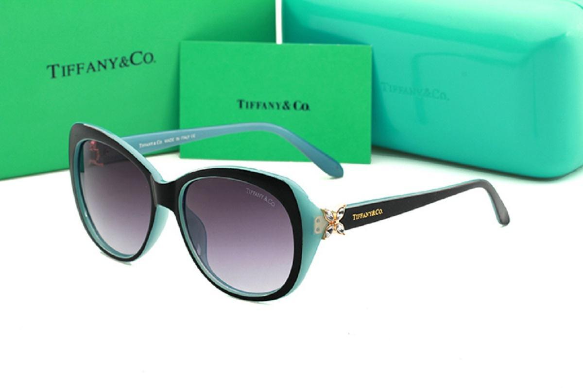 Sexy Cat Eye Sunglasses Femmes Marque Concepteurs Luxe Lunettes de soleil Femme objectif Shades pour dames Tiffany Lunettes UV400 Livraison gratuite