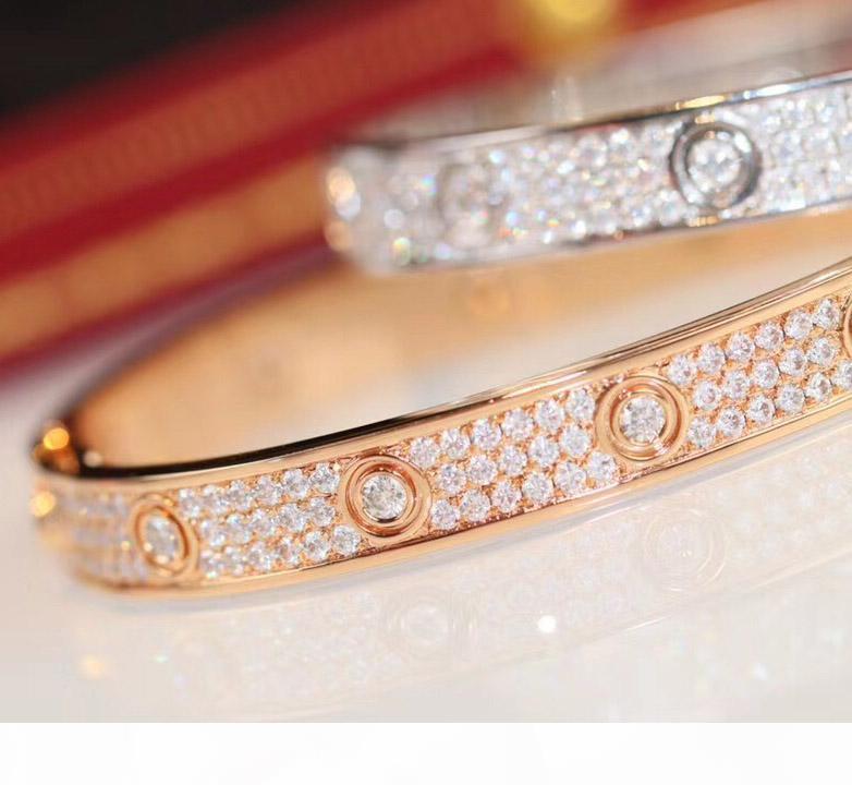 ارتفعت الجودة الفاخرة الذهب والبلاتين سوار الماس مع لامع للنساء مجوهرات الزفاف هدية في 16 # 17 # الحرة الشحن PS3416