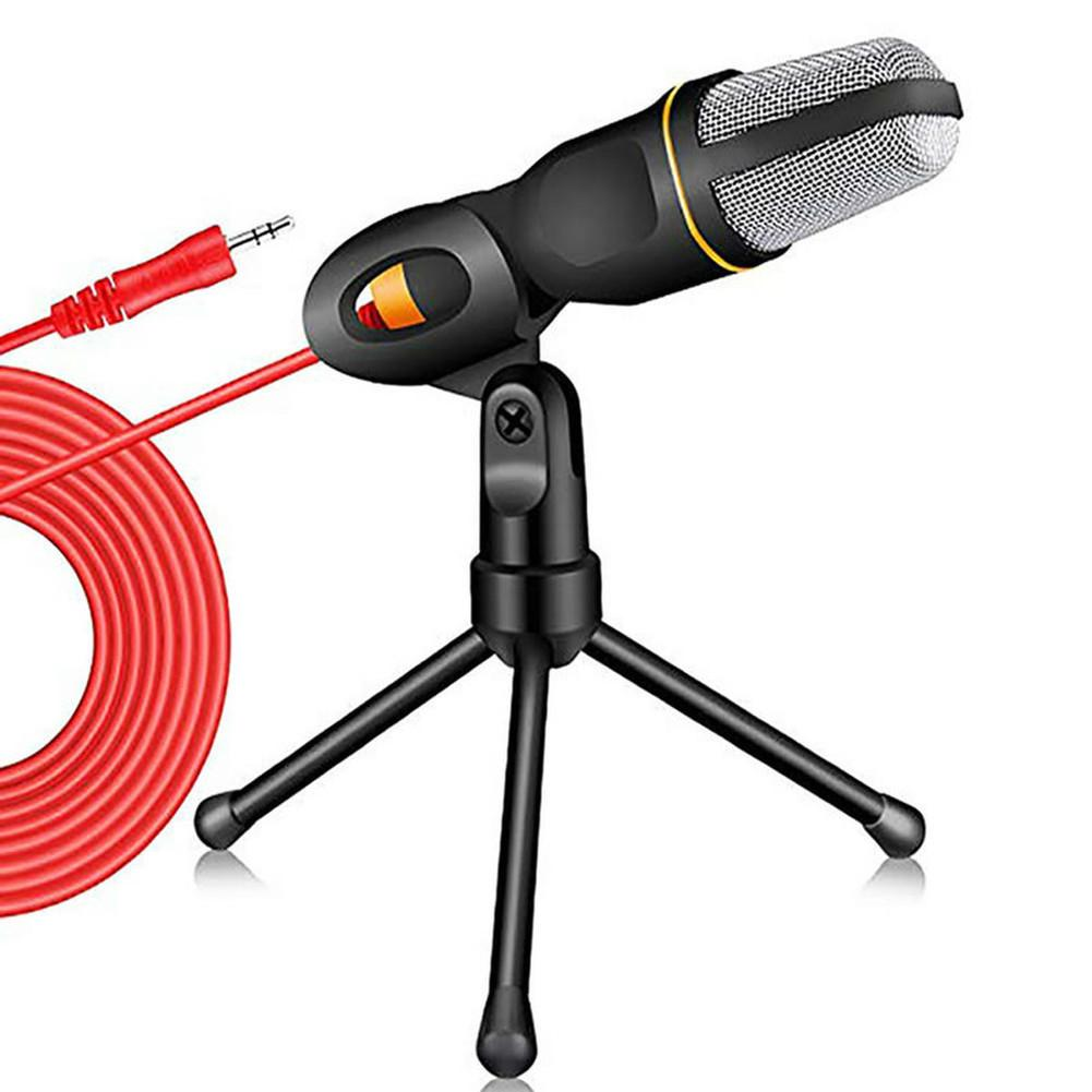 LOT New Condenser Microphone 3.5mm Plug Home Stereo MIC Desktop Tripod for PC YouTube Video Skype Chatting Gaming Podcast Recording