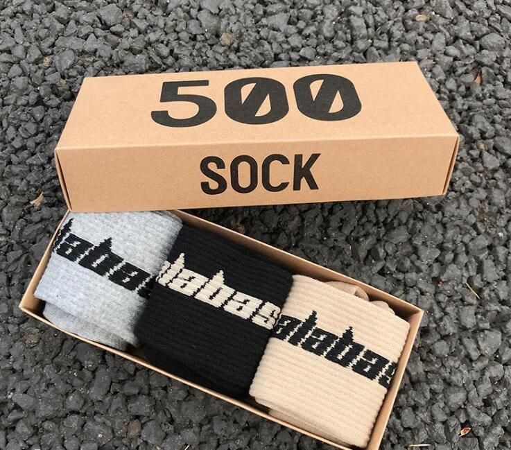 시즌 6 Calabasas Socks 스케이트 보드 패션 망 편지 인쇄 양말 스포츠 양말 Sockings 힙합 NFSF #