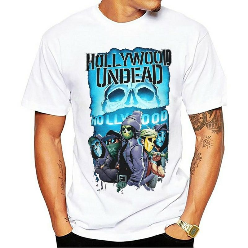 Hollywood Undead T-shirt Crew Men'S Noir Gym T-shirt