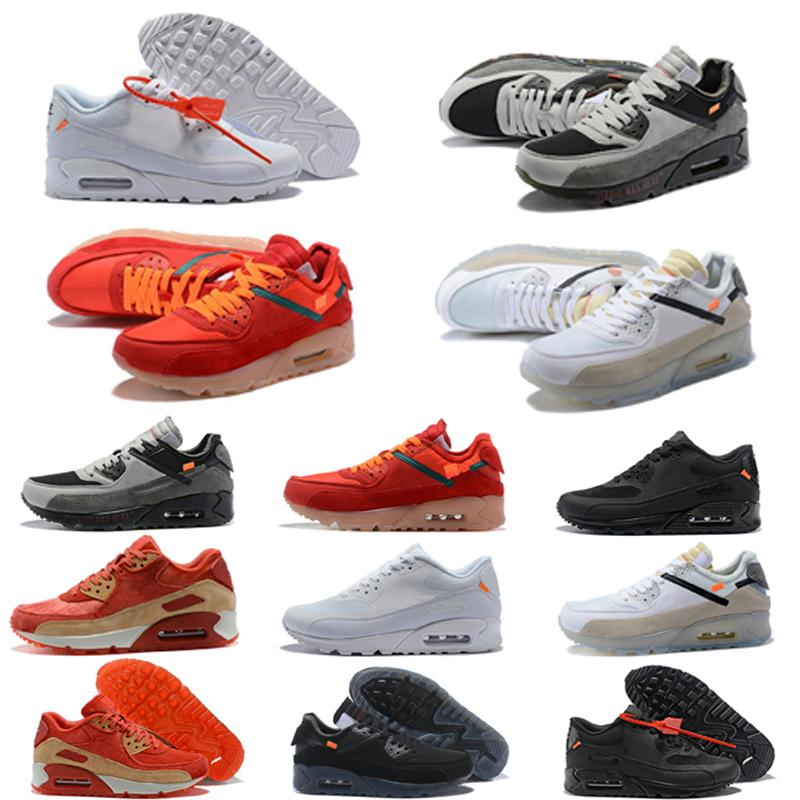 Classic 90 Chaussures scarpe da corsa per donne degli uomini, moda anni '90 Cuscino dimensioni sport atletici scarpe da tennis 36-45