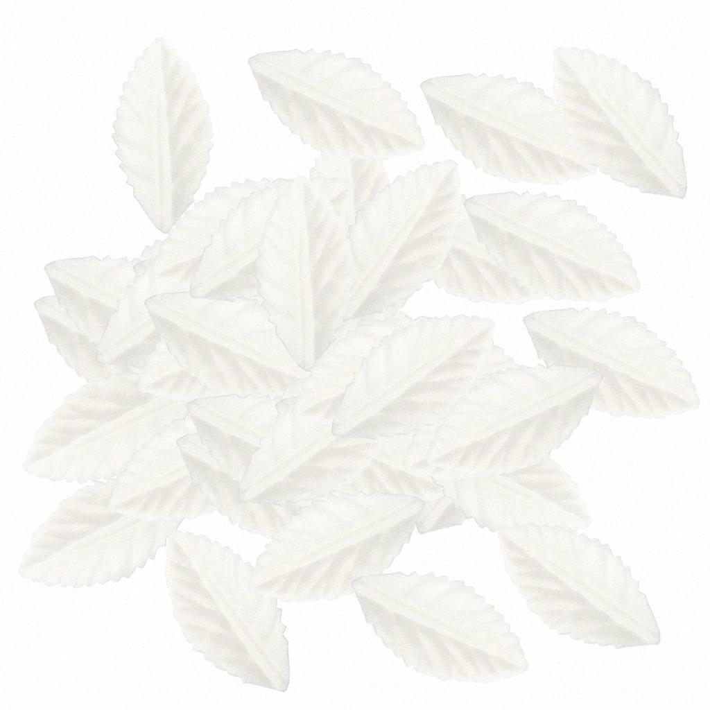 100 Party Pieces boda para la flor de seda hoja hojas decoración casera DIY guirnalda de la tarjeta de regalo de Scrapbooking Haciendo x8V1 #