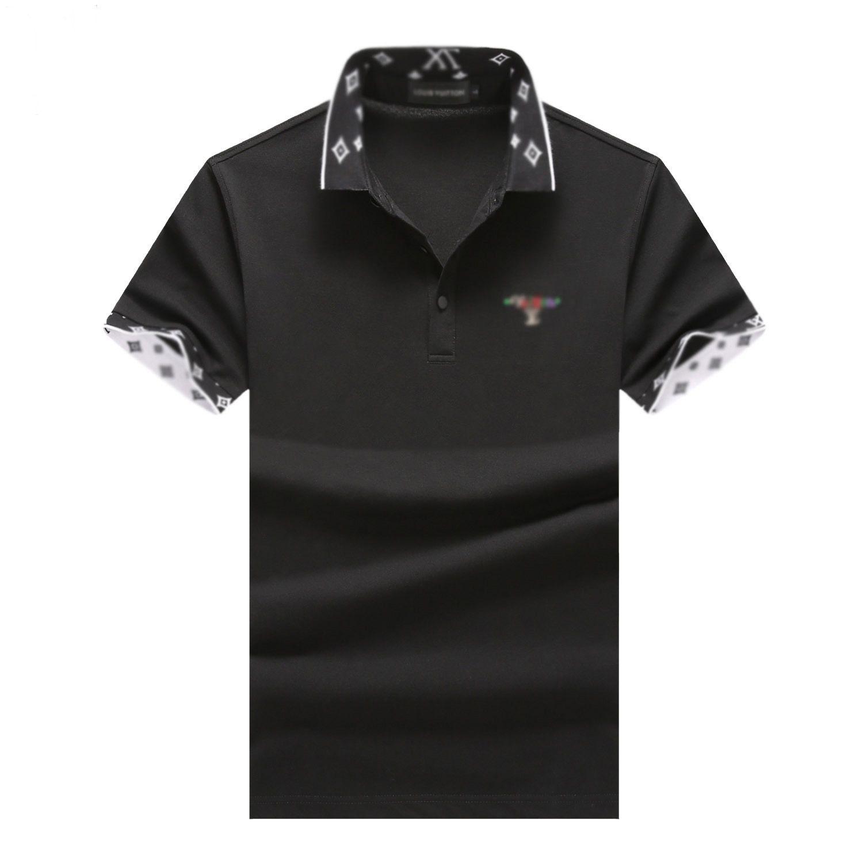 2020 diseñador del verano marca de ropa de lujo del polo hombres camisa letra de la manera ocasional del polo de la Impresión Embroid