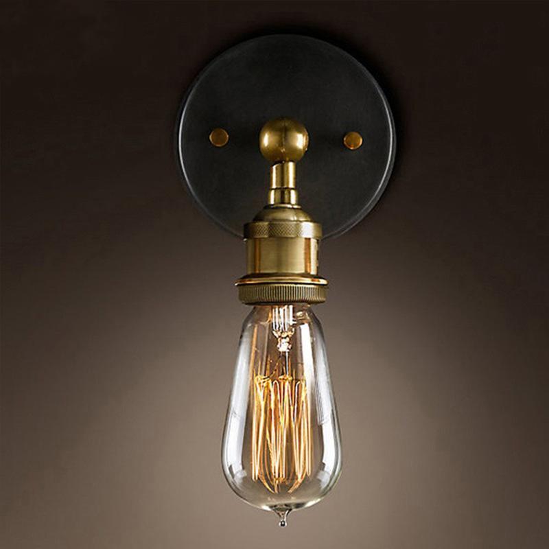 레트로 산업 LED 벽 램프 빈티지 철 녹 녹 물 파이프 LED 조명 E27 로프트 빛 도금 실내 조명 홈 베드룸 레스토랑 데코