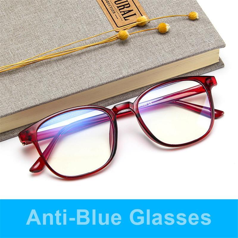 Higodoy 2020 Нового ретро очки кадр Мода Компьютер очки кадры для мужчин Anti-синего света прозрачного розового Пластика