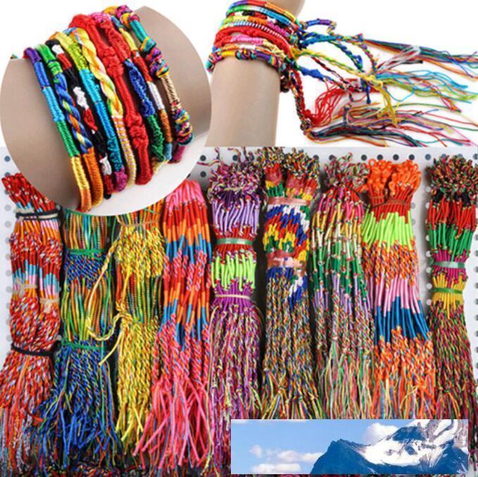 Bunte Armband Mädchen Lila Unendlichkeit Armband-handgemachte Schmucksache-preiswerte Braid Schnur geflochtenes Freundschaftsbänder DHL-freie