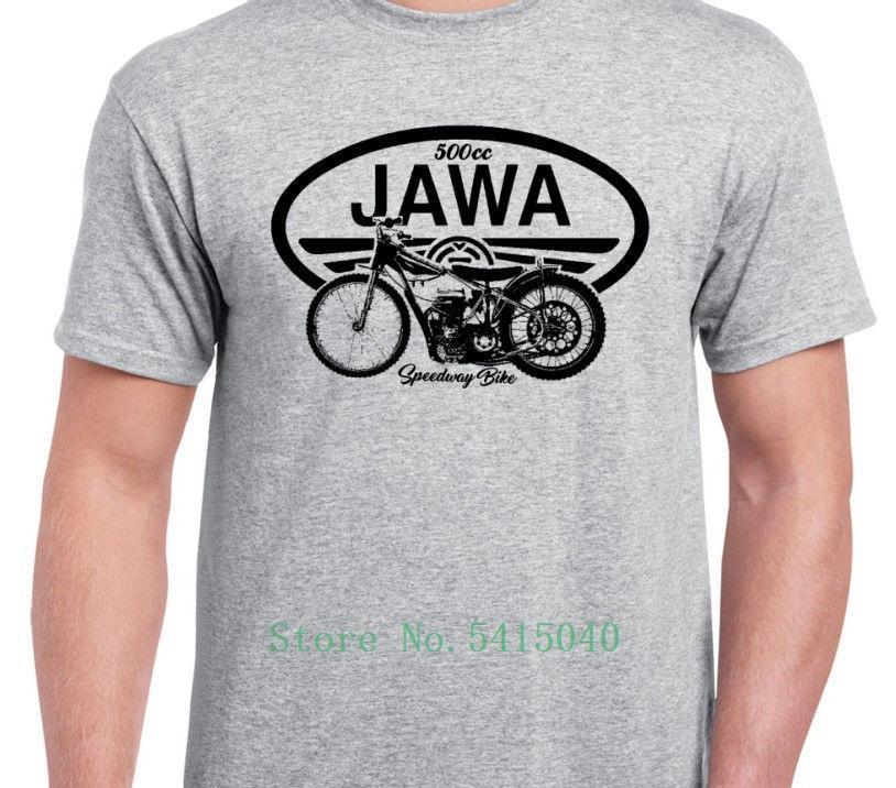 Camiseta Homme 2019 New Jawa Speedway Inspirado Classic Motorcycle Vintage Bike shirt Camiseta