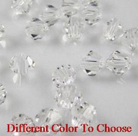 4mm 6mm 3mm 1000Pcs/lot strand Bicone Faceted Glass Cuts Looses Crystal Beads Colored Mixed size white whyu67 oUjA#