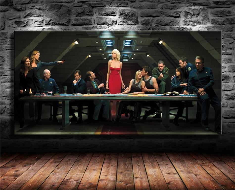 Última cena, Battlestar Galactica, HD Impresión de la lona Pintura Nueva decoración del hogar Arte / (Sin marco / capítulo)
