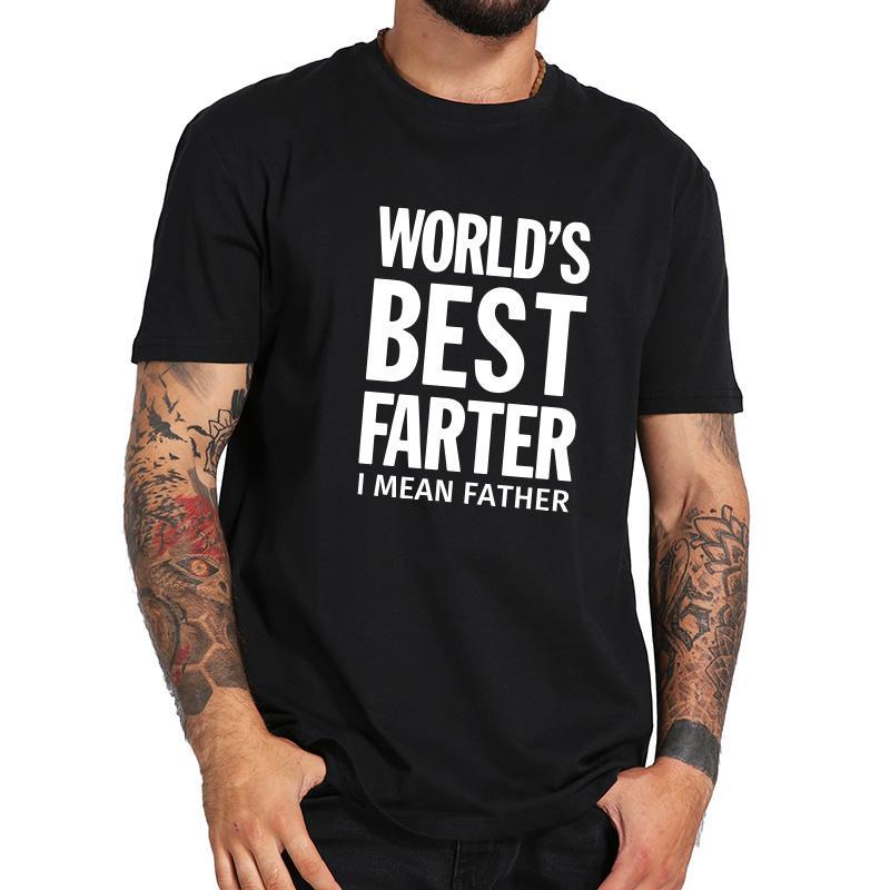 Eu Größe Baumwolle der Welt bester Vater I Met Dad Print Briefgestaltung Neuheit Top-Qualität Rundhals-T-Shirt