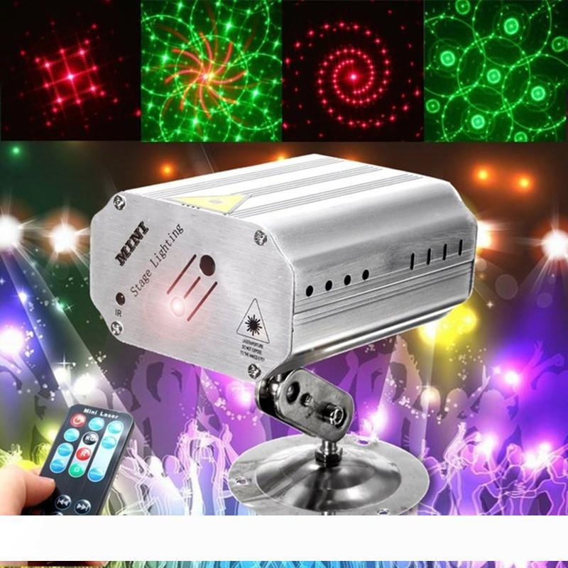 Voice Control Musik-Rhythmus-Blitzlicht LED-Laser-Projektor-Stadium DJ-Disco-Licht-Verein Tanzen Party-Lichter Stadiums-Effekt-Beleuchtung
