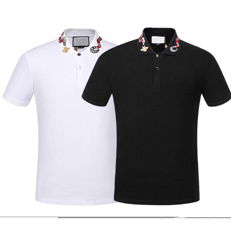 2020 Italien Herren Designer Polo Shirts Mann High Street Stickerei Garter Snakes Little Bee Printing Marken Top-Qualität Cottom Kleidung Tees