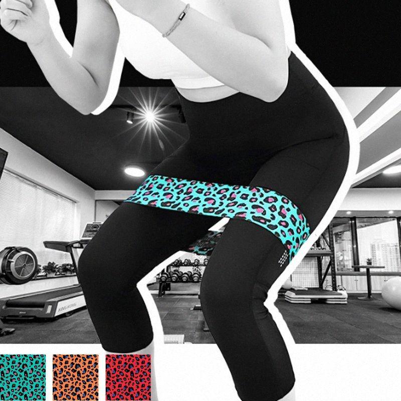 1pc Leopard Résistance bande élastique gymnastique Latex Fitness Training stretch Ceinture FktY #