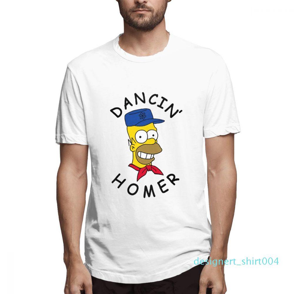 Cotton Os Simpsons desenhador de moda camisas camisas das mulheres dos homens de manga curta Camisa O c3603d04 Simpsons Impresso camisetas Causal