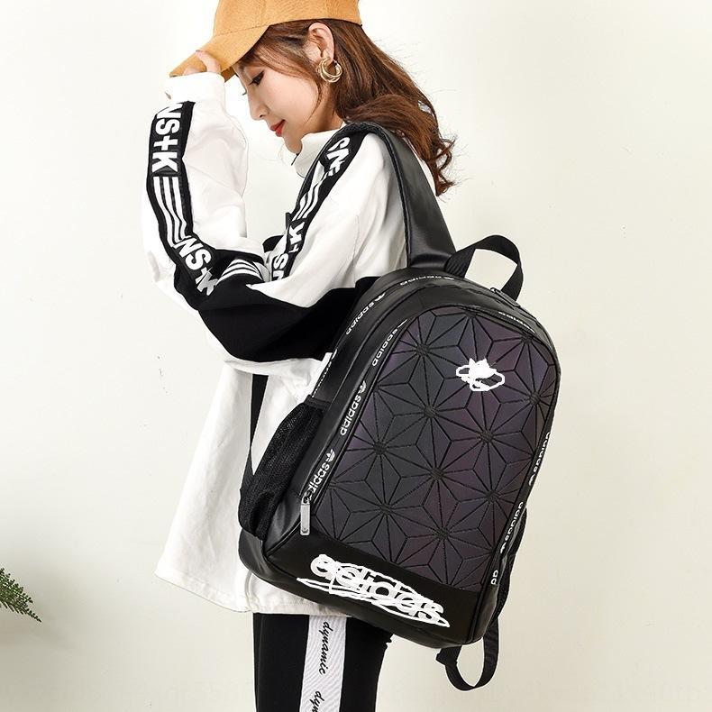 uomini AD zaino delle nuove e sacchetto di modo delle donne del diamante 3D geometrica diamante Sport LeisureStudent Fashion Bag