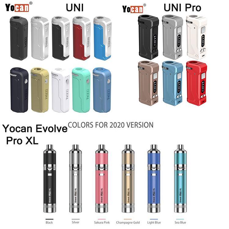 Authentic Yocan Evolve Plus XL Starter Kits Dry Herb Vaporizer Kits Yocan UNI Pro UNI Built In 650mah battery DHL Shipping