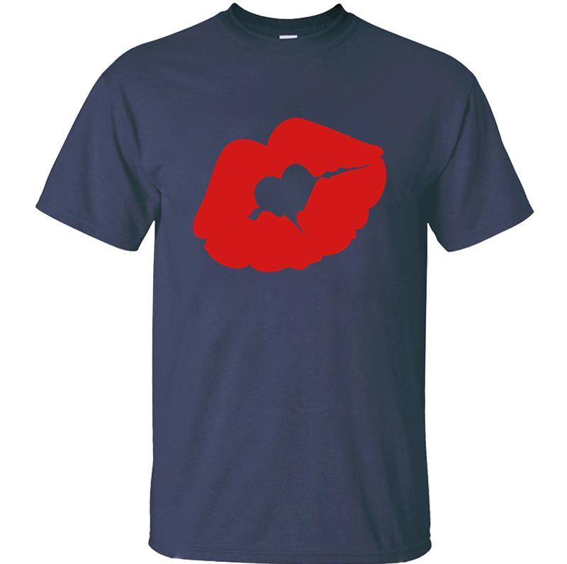 Humor Sexy Hearted Red Luscious Sinnliche Lippen T-Shirt für Erwachsene und Mädchen Kawaii Herren-T-Shirts Short Sleeve Unisex