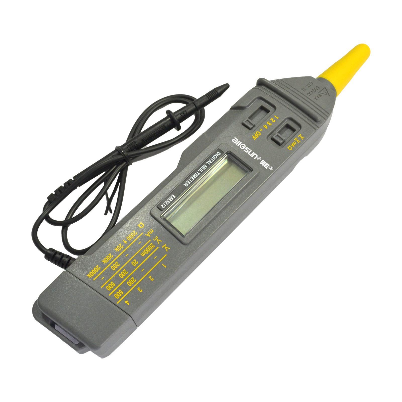 디지털 휴대용 펜 타입 멀티 미터의 LCD 디스플레이 자동 범위 포켓 사이즈 볼트 앰프 옴 테스트 CATII 측정기 모든 일 EM3212