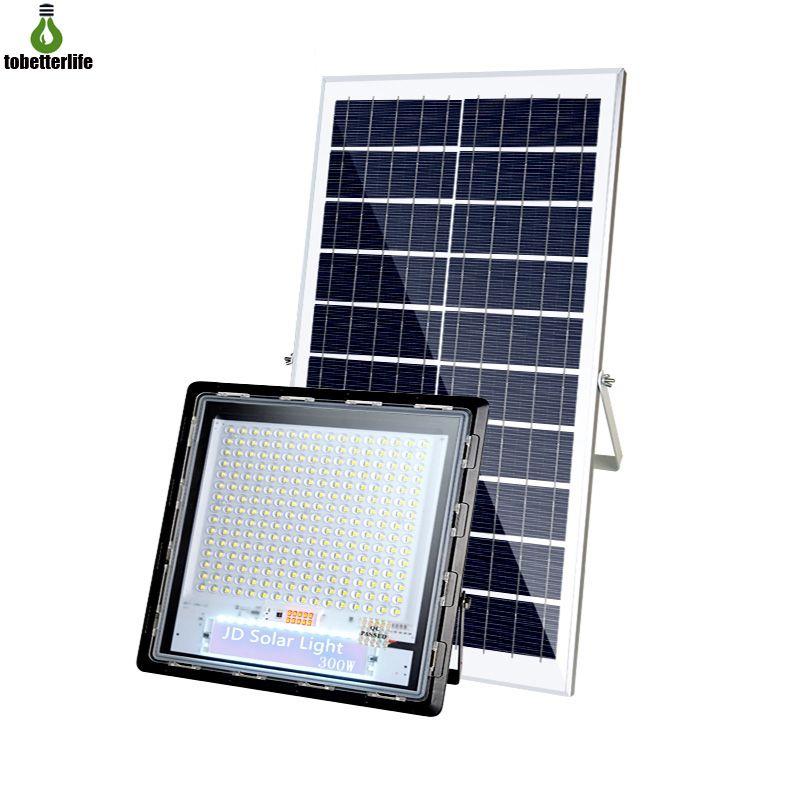JD Solar Powered Flood lamp 40W 70W 120W 200W 300W Spotlight Outdoor IP67 Waterproof Garden Light 3030 Clear lens