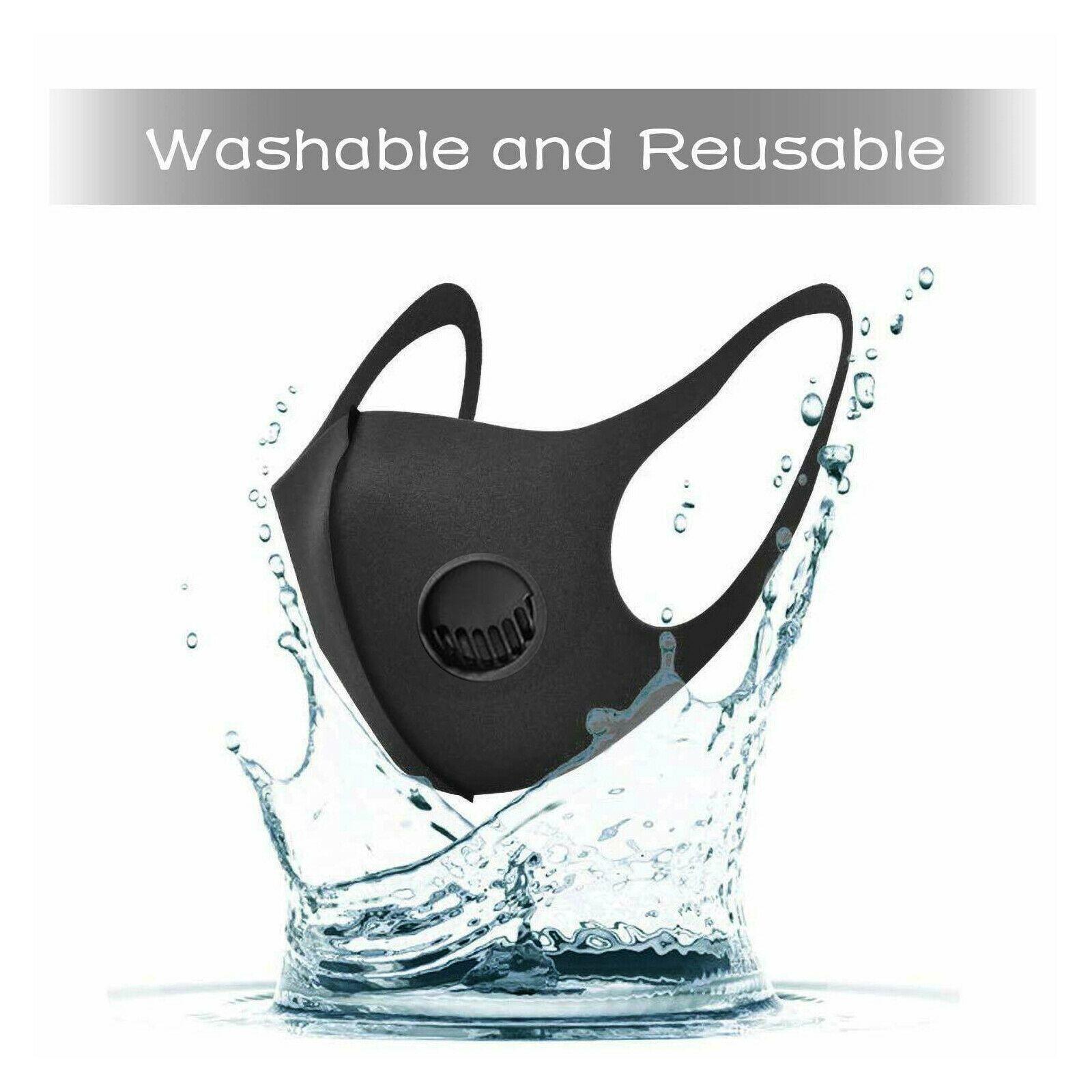 تنفس صناعي واقية قابل للغسل قناع التنفس والأسود يمكن إعادة استخدامها