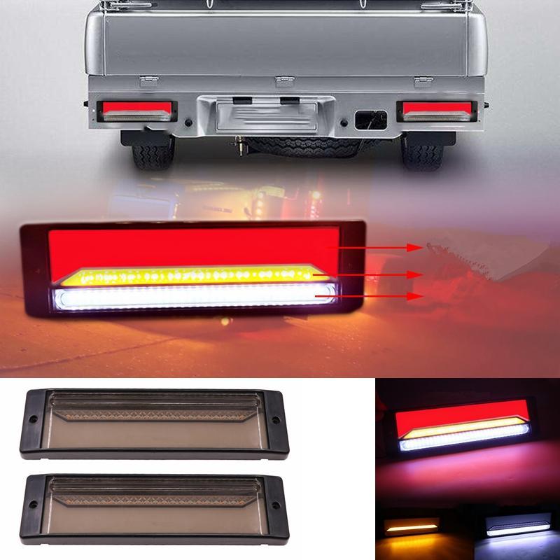 147 LED Trailer Truck Brake Light Waterproof Neon Halo Ring Tail Brake Stop Light Flowing Turn Signal Lamp DC 10-30V