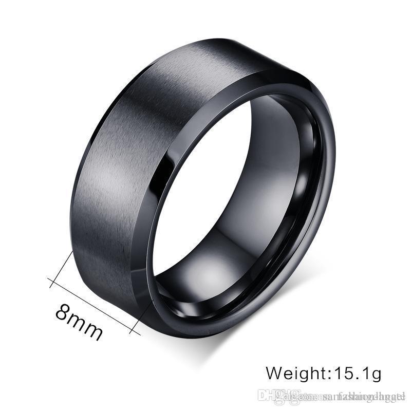 G90 Mischauftrag Valentinstag Geschenk Herren-Ringe Wolfram Ring Wolfram-Carbid-Fingerring Männer Juwel Fabriklieferant Tropfen ring shipp