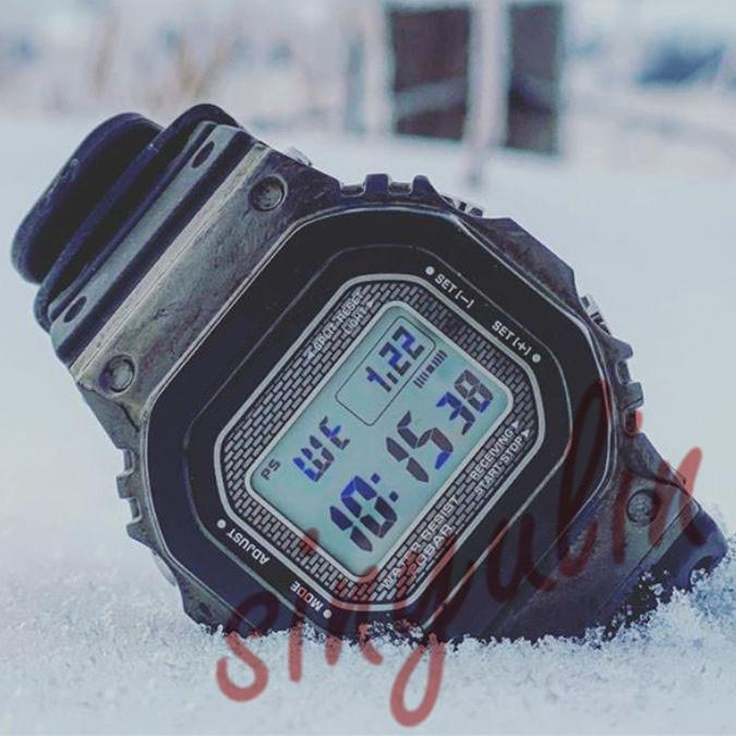 Square Stainless Steel Large Dial Men's Business Watch LED Display Solar Alarm Clock Waterproof Watches Hot Sale Wholesale GMW-B Watches