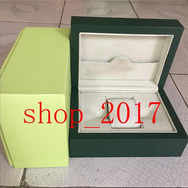 XX 2020NEW Étui cadeau de boîte de montre vert foncé de luxe pour Rolexes Watchs Batchlet Tags et papiers en anglais Suisse Boîtes