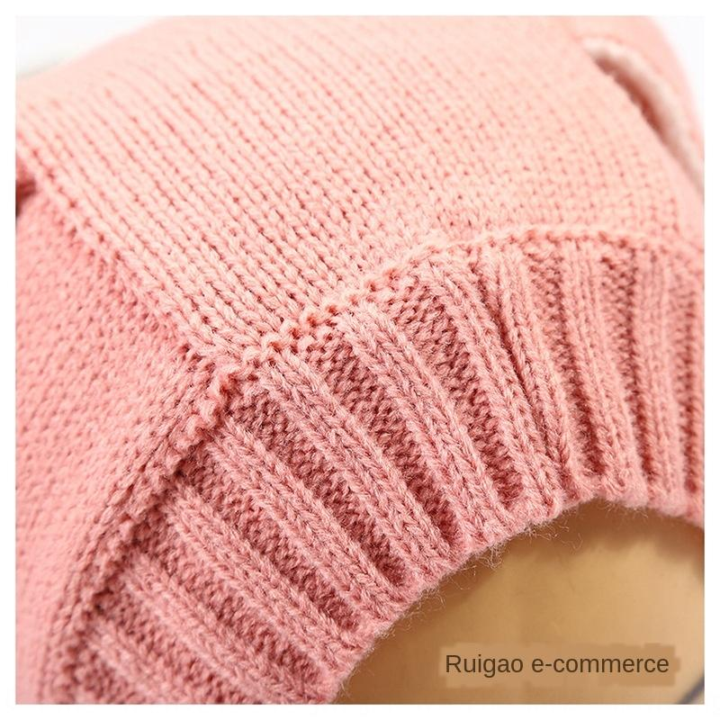 Children's long ears rabbit Hair cap pullover cap baby's wool pullover knitted hat new hat for boys and girls