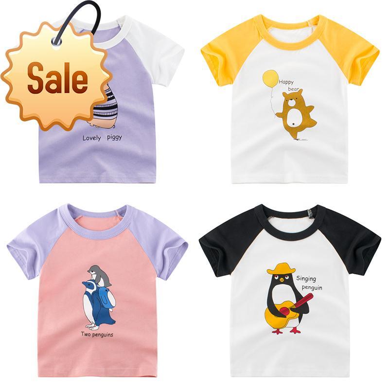 2020 Summer Girls T-shirt Children Tops Cartoon Kids T-shirts Short Sleeve Baby
