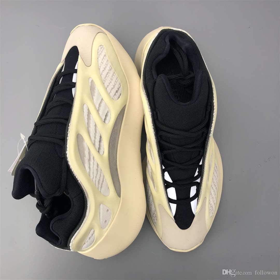 2020 nuevas de la manera zapatos de lujo frente a hombres mujeres Kanye plataforma de zapatos para hombre zapatillas blancas diseñador de zapatos formadores de baloncesto en ejecución