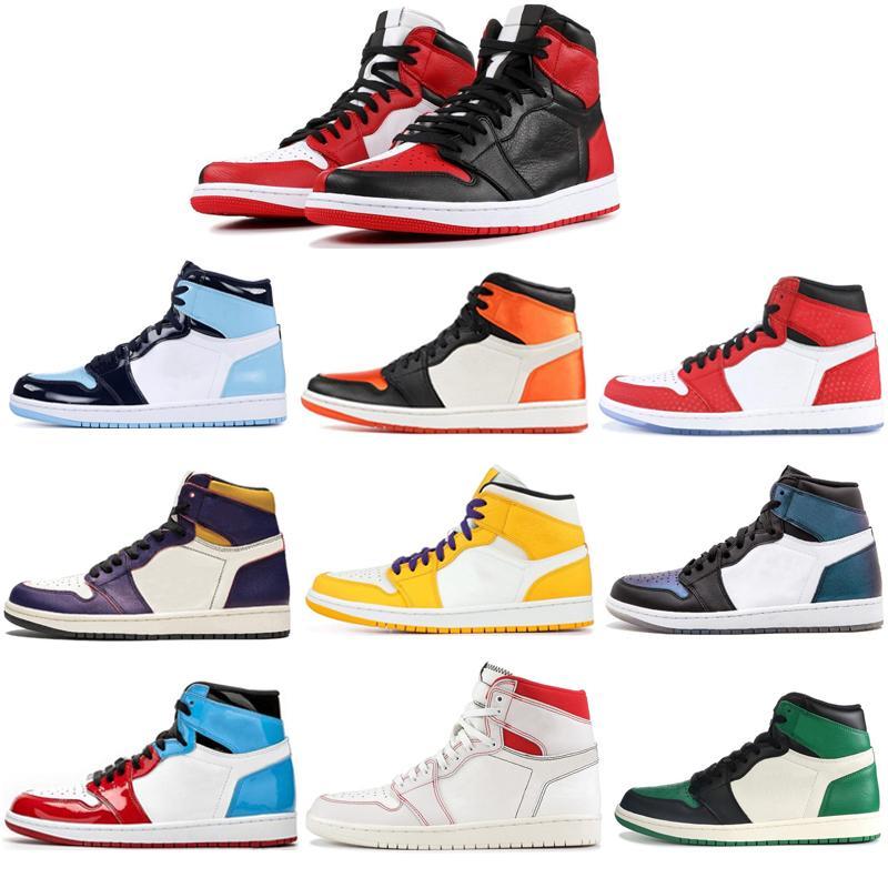 Top retro hombres y mujeres vendedoras calientes al aire libre del alto top de los zapatos de baloncesto rebotan calzado deportivo de formación