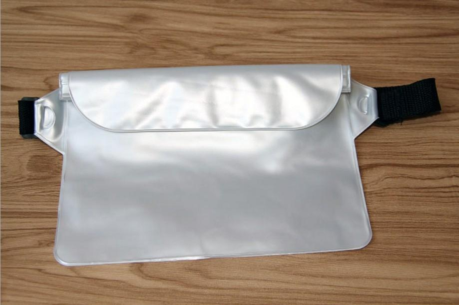 Deportes al aire libre móviles paquete de la cintura de teléfono deportes granel de tres capas de sellado bolsa de la cintura libre del bolso del teléfono móvil resistente al agua