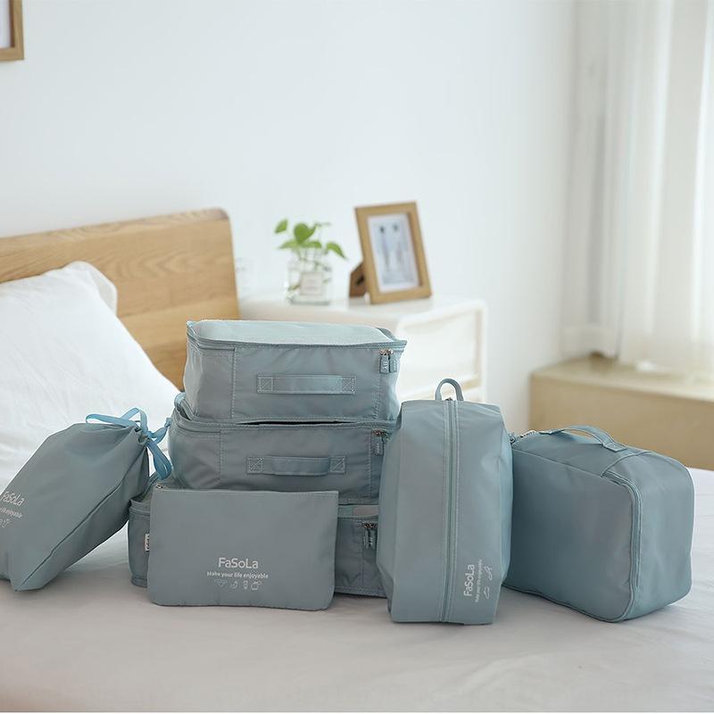 7-teilig japanische Reise Kleidung Schuhe Unterwäsche Aufbewahrungstasche Unterwäsche-Aufbewahrungsbeutelverpackungstasche Bündelsortier