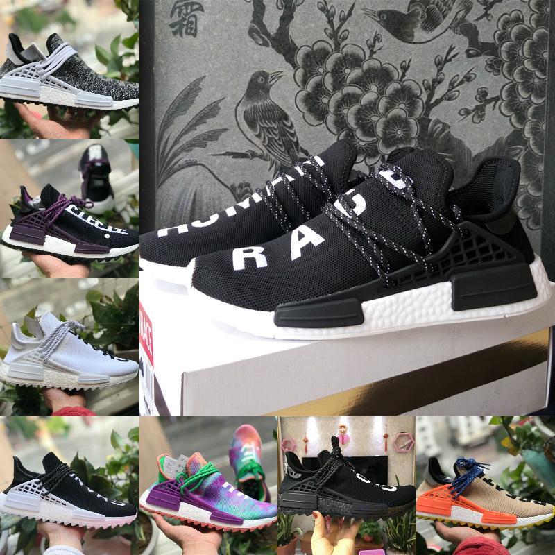 2020 Race Nueva NMD Humano Infinito Especies BBC de los zapatos corrientes Paquete solar barato Hu Pharrell Williams Oreo Conocer hombres Alma de mujeres capacitadoras las zapatillas de deporte
