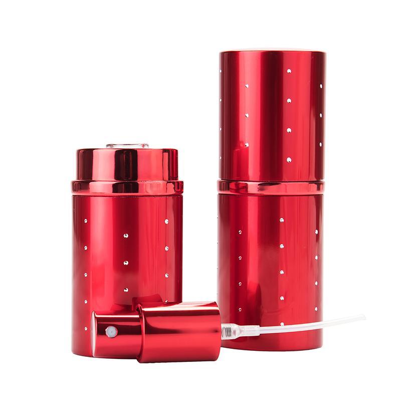 Frascos de armazenamento frascos MUB - 30ml de alta qualidade Viagem vermelha frasco de perfume recarregável para bomba de pulverização Atomizador Portátil Vazio Cosmético Conta