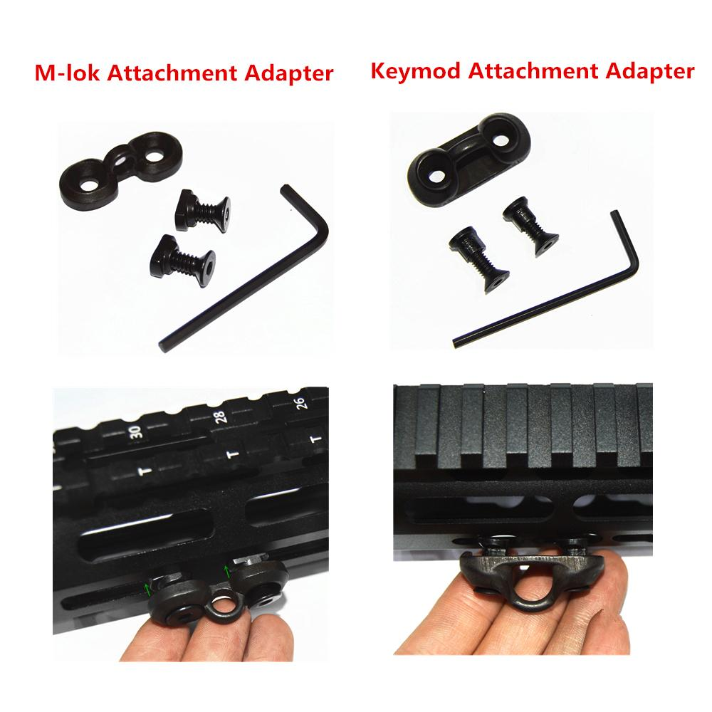 Keymod / M-lok Sling Swivel Stud Mount Rail Adaptador de fixação para KEYMOD / MLok Handguard Sistema Ferroviário