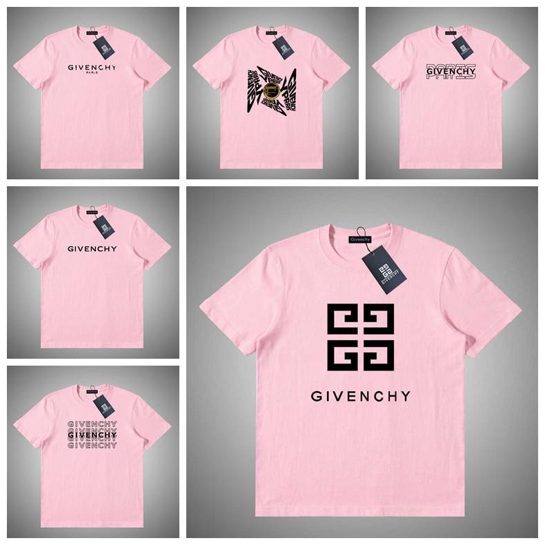 Givenchy Hombres Ropa de verano para hombre camisetas letras impresas atractiva camiseta de manga corta de cuello redondo camisetas Hombre Mujeres Tops S-XXL # 68945