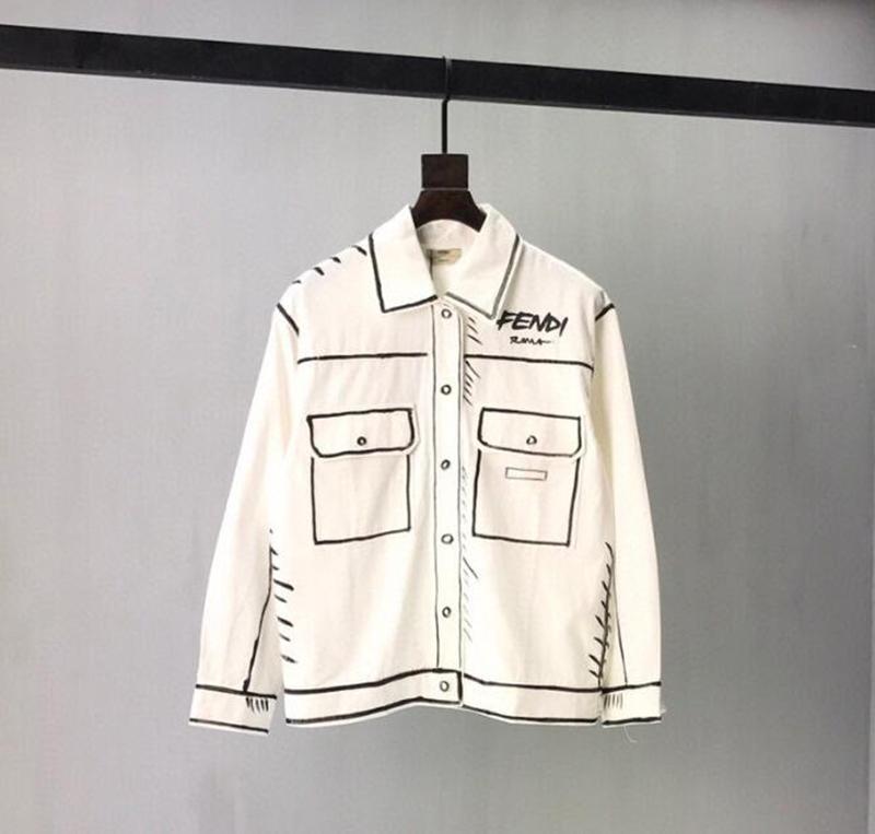 통기성 지퍼 스포츠 용 재킷의 일종 2020 프랑스어 가을 겨울 패션 캘리포니아 하늘 인쇄 고급 데님 재킷 자카드 스티치 남성 디자이너